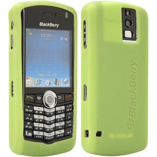 BlackBerry Lime Green Rubber Skin Case For Pearl 8100 Blackberry Pearl Belt Clip
