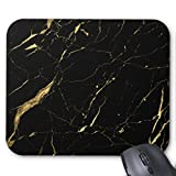 Zazzle Black and Gold Marble Designer Mouse Pad