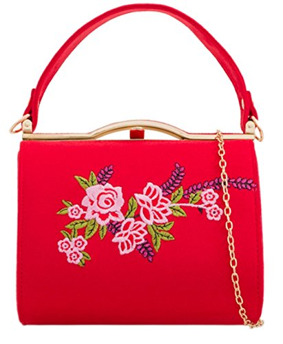 HandBags Flower HandBags Handbag Girly Flower Red Flower Girly Compact HandBags Handbag Red Compact Compact Handbag Girly A4gqHA