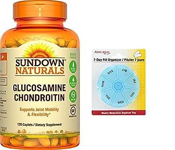 Sundown Naturals Glucosamine Chondroitin doble resistencia con calcio y Vit D3, 120 cápsulas con gratis