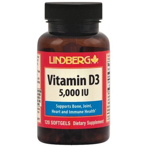 Lindberg Vitamin D3 5000 IU, 120 Softgels