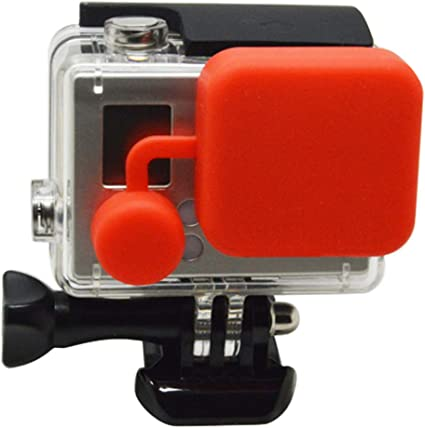 Orange Soft Silicone  Camera Lens Protective Cover Cap for GoPro Hero 3//3+//4