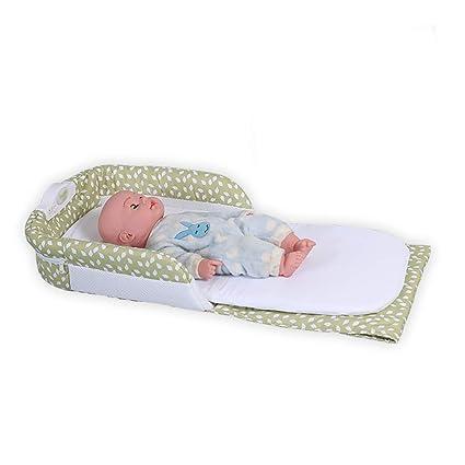 Cuna portatil 2 en 1 Bolsa de pañales Bebé Multifuncional Bolsa de pañales Plegable Bebé Cuna