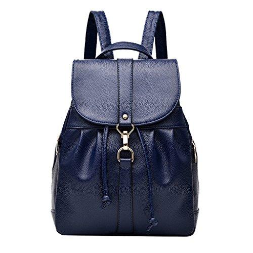 scuola esterno da donna borsa da della casual pelle in TSRHFGT Dark da Borsa robusta borsa Blue2 donna viaggio Zaino qHwgaA
