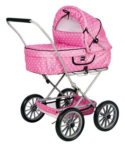Brio 24890131 - Cochecito para muñecas plegable con cuco extraíble en color rosa: Amazon.es: Juguetes y juegos