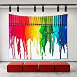 LBKT Tapestry Wall Hanging Colorful Rainbow Crayon Painting Art Home Decoration Wall Tapestries for Bedroom Living Room Dorm Decor 90''x60''