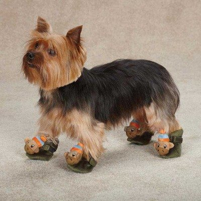 Monkey Business Dog Slipper Style: Ty, Size: Small (fit 2.38″ x 2″ paw), My Pet Supplies