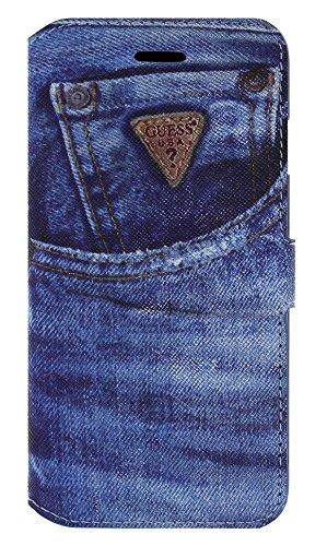 Guess  Denim Etui folio pour iPhone 6/6S Motif Jeans
