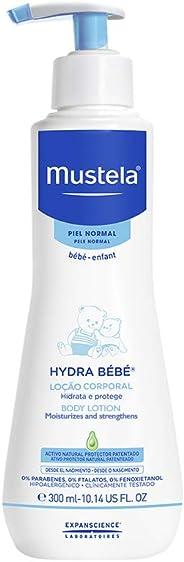 Hydra Bébé Rosto e Corpo, Hidrante Infantil Diário Desde o Nascimento com Ativos Naturais e Patenteados, Mustela, 300 ml