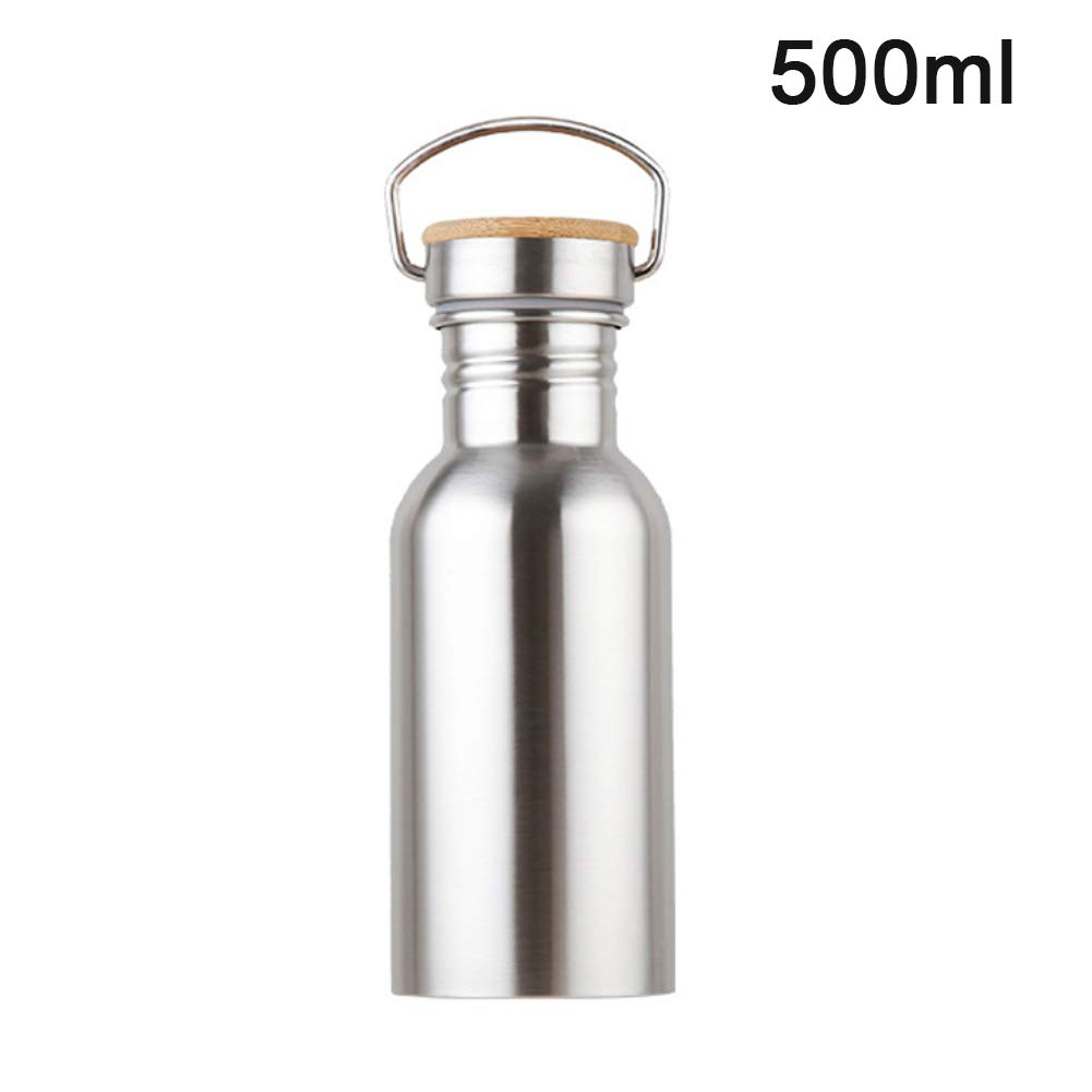 YSoutstripdu Stainless Steel Outdoor Sports Cycling Climbing Leak-proof Drinking Water Bottle