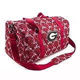 Eagles Wings Georgia Bulldogs UGA Duffel Bag Large Quilted Travel Bag