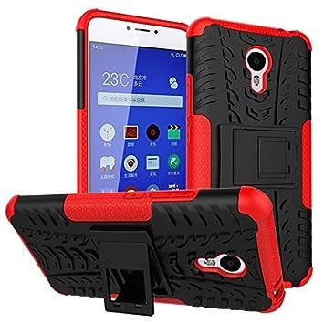 Meizu M3 Note Funda, adorehouse Hybrid TPU y PC Bumper Back Cover [diseño 2 en 1] Anti-Gota Anti-Choques Rígido Carcasas para Meizu M3 Note (Rojo)