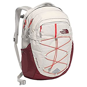 The North Face Women's Borealis Backpack Lunar Ice Grey/Melon Red