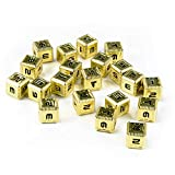 Saberforge Steel Six Sided Dice (20 Pack) (Gold)