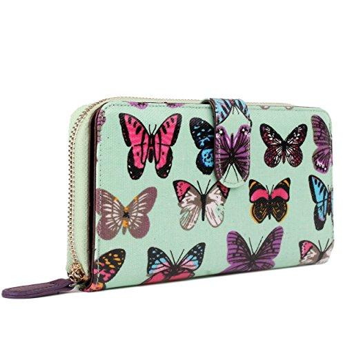 Miss Lulu , Damen Tote-Tasche Butterfly Purse Green