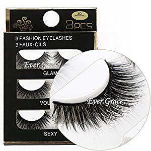 3 Pairs Long Cross False Eyelashes Makeup Natural 3D Fake Thick Black Eye Lashes