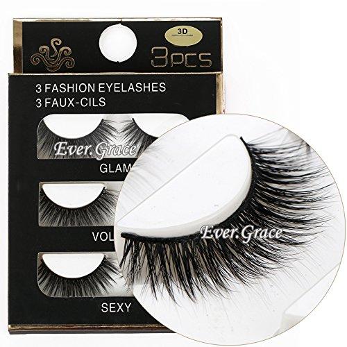 Apply False Eyelashes (3 Pairs Long Cross False Eyelashes Makeup Natural 3D Fake Thick Black Eye)