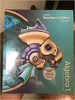 Pearson algebra 1 florida common core teachers edition volume 2 pearson algebra 1 florida common core teachers edition volume 2 basia hall allan e bellman randall i charles 9780133283242 amazon books fandeluxe Images