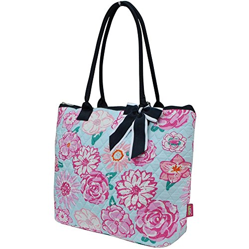 Cotton Rose Owl 2 Tote Quilted Floral Bag Navy Ngil Medium Blue 5qE0wnf