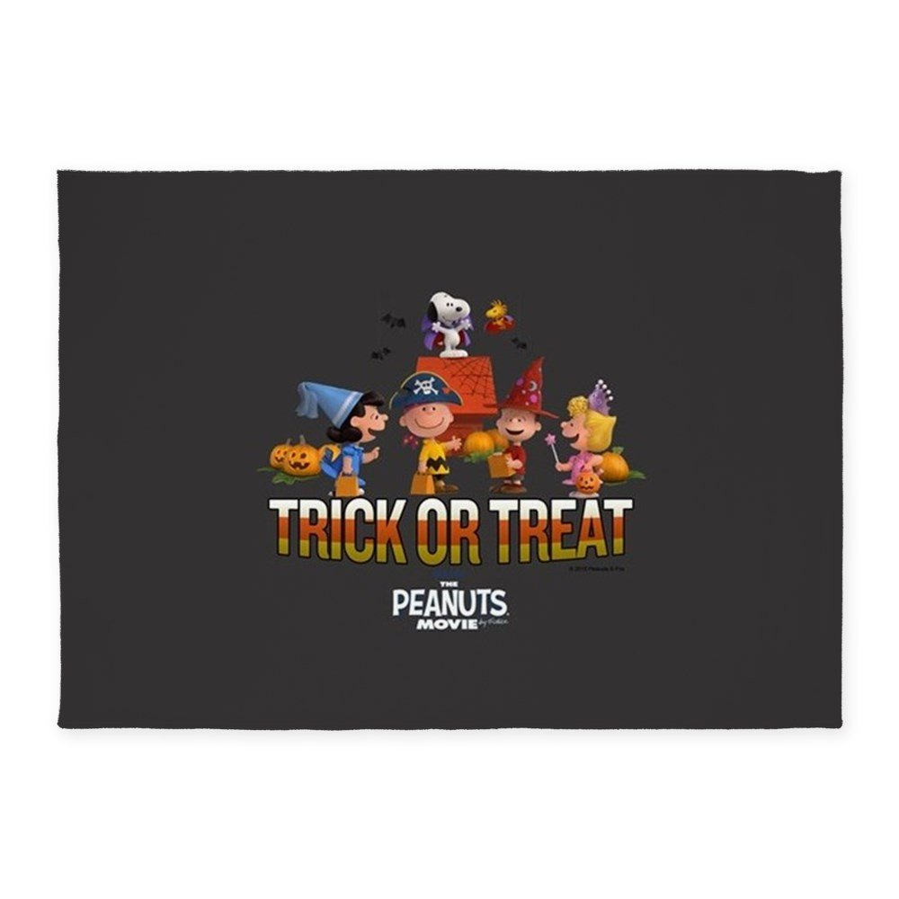 CafePress - The Peanuts Movie - Trick Or Treat - Decorative Area Rug, 5'x7' Throw Rug