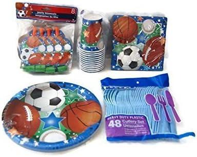 Amazon.com: Sports Tema Fiesta de cumpleaños suministros ...
