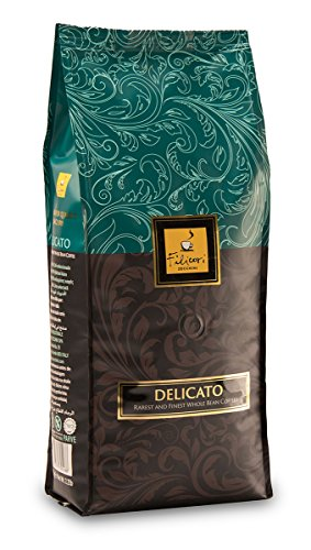 Whole Bean Coffee - Filicori Zecchini - Delicato - Espresso - Italian Roast (Medium Dark) - Gourmet Blend of Brazil, Guatemala, India Coffee Beans - Made in Italy - 2.2Lb (1kg) Bag