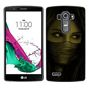 LG G4 / H815 H812 H810 H811 LS991 VS986 US991 Único Patrón Plástico Duro Fundas Cover Cubre Hard Case Cover - Woman Mysterious Ninja