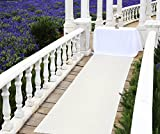 Zdada Aisle Runner Carpet Home Decor, Aisle Runner Wedding Ivory, 36' X15FT