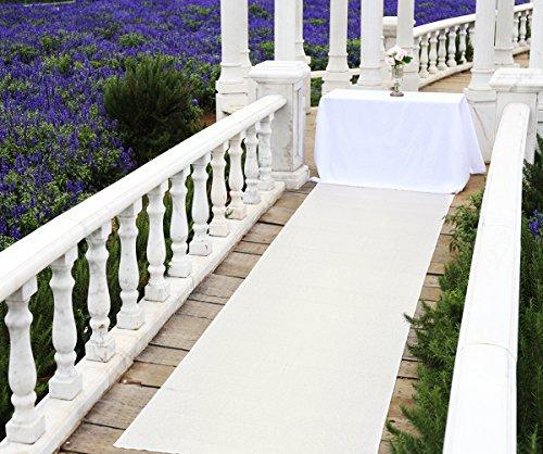 Zdada 48 inch Wide By 15 feet Long Sequin Ivory Wedding Floor Runner/Party Aisle Floor Runner And Ceremony Carpet from Zdada