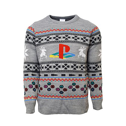 Price comparison product image Official PlayStation Console Christmas Jumper / Ugly Sweater (UK L/US M)