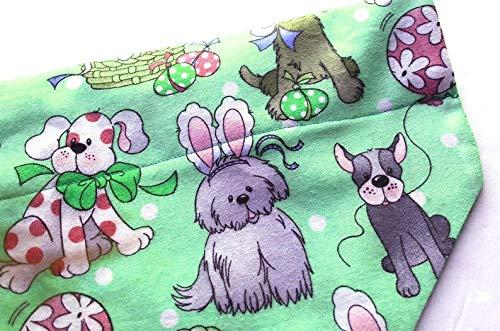 Easter dog bandana slip over the collar dogs wearing rabbit ears
