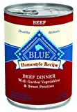 Blue Buffalo Canned Dog Food - Beef Dinner (Pack of 12 12.5-Ounce Cans)