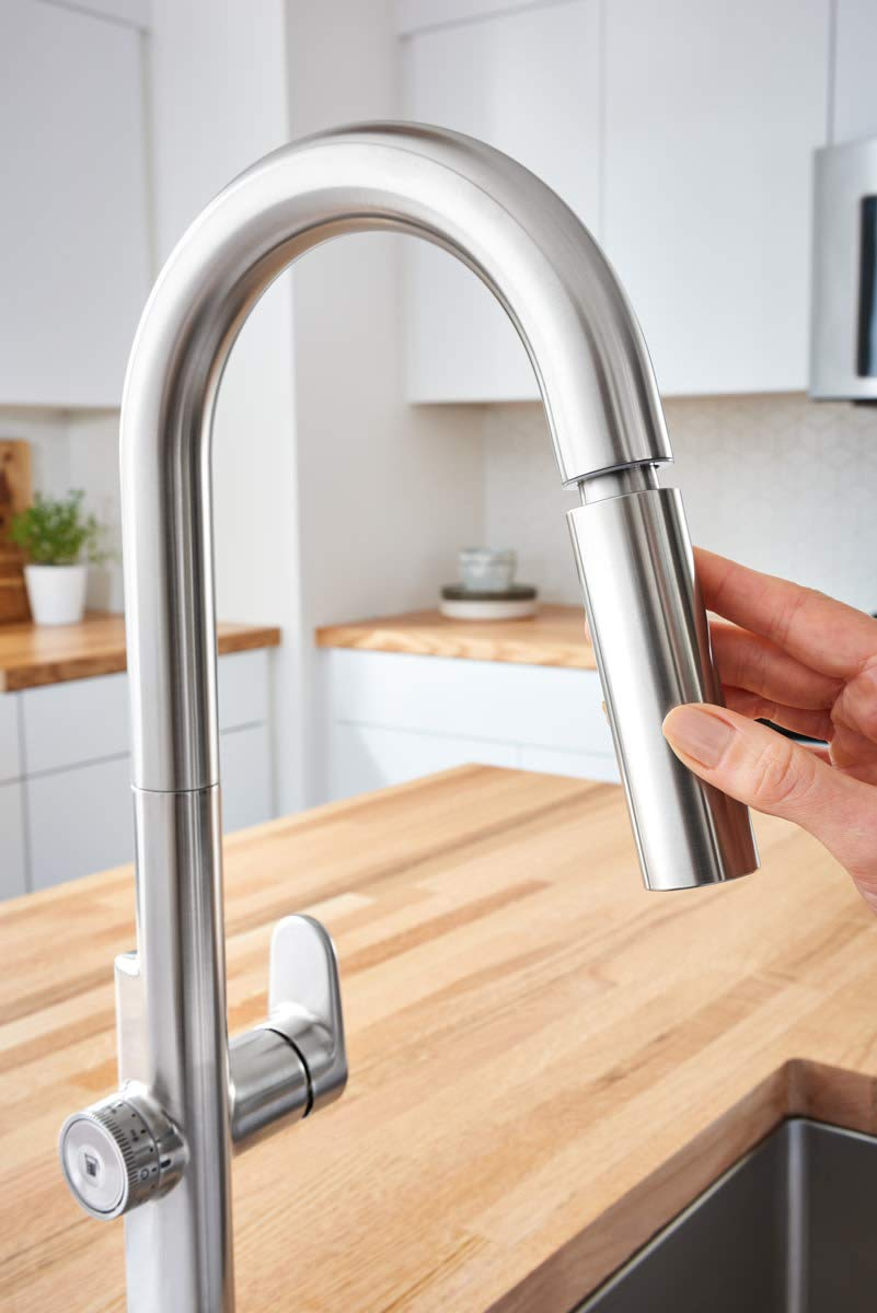 American Standard 4931360.075 Beale Measurefill Touch Kitchen Faucet, Stainless Steel by American Standard (Image #9)