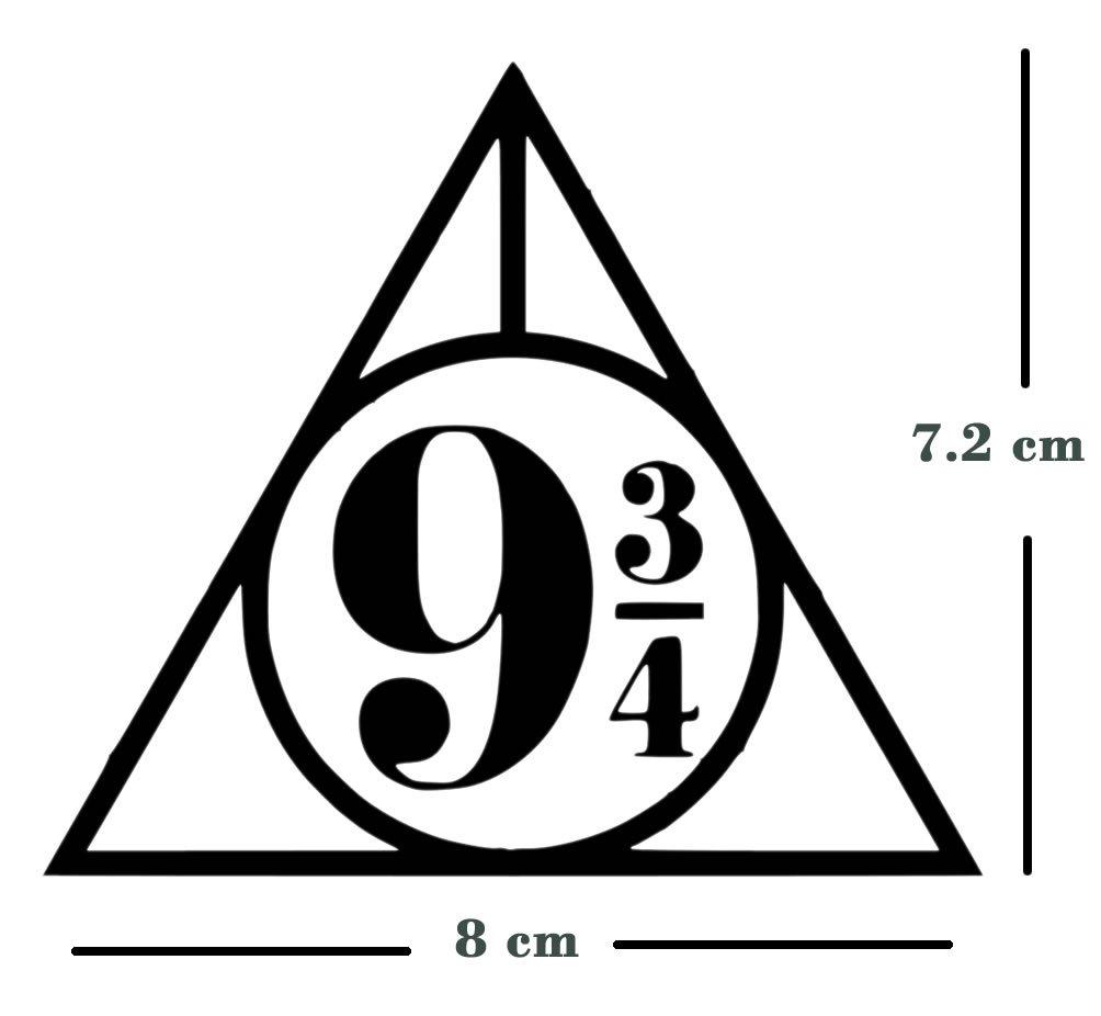 Conjunto de 7/de hierro en transferencia de tejido se puede lavar a m/áquina de impresi/ón Protector de Hogwarts Harry Potter Reliquias de la muerte del Rey Cruz plataforma 9/3//4