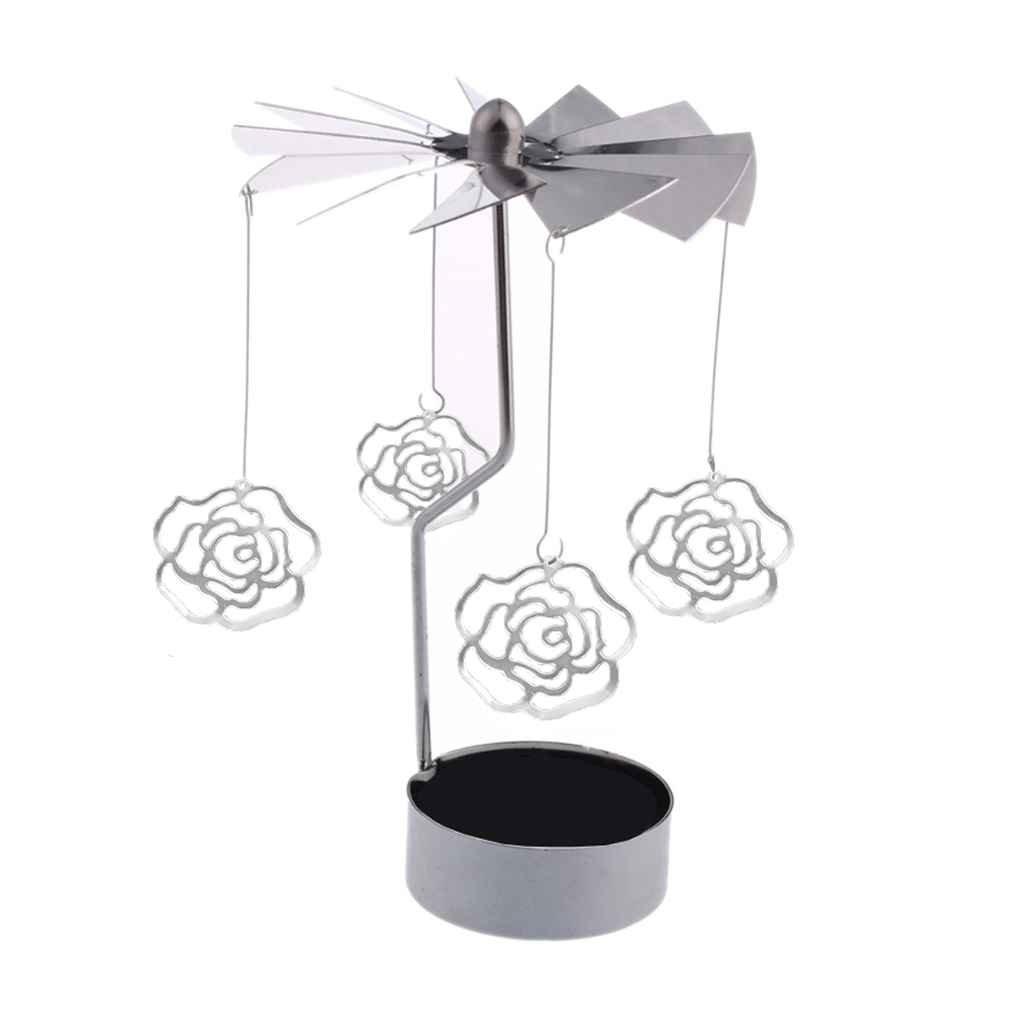 Zerama Metal rotary tea light candle holder
