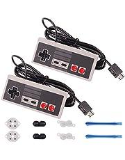 Rantecks Controlador NES Classic 5 en 1 Set con 2 Pack NES Classic Controller para Super Nintendo Classic Edition 2017 y NES Classic Mini 2016