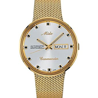 Amazon.com: Mido Mens M8429.3.21.1 Analog Swiss Automatic Gold Plated Watch: Watches