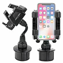 DURAGADGET Anti-Shake, Anti-Vibrate In-Car Smartphone Cup Holder Mount with Adjustable Arms - Compatible with Full Apple iPhone Range, X, 8, 8 Plus, 7, 7 Plus (+), 6, 6 plus (+), 5S, 5C, 5, 4S, 4, 3G S and iPod Classic and Touch