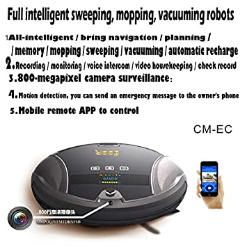 The gbar Multi-Purpose Robot: Fully Automatic Sweeping, Mopping, vacuuming, Remote App, Surveillance, Two - Way Voice Conversation: Amazon.es: Hogar