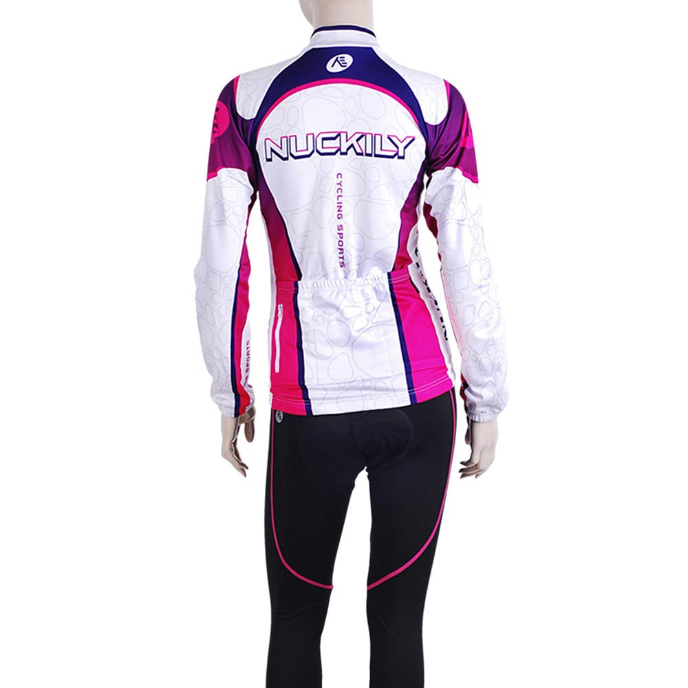 Amazon.com : YHLU Womens Long Sleeve Cycling Jersey - Purple Stripe Patchwork Geometic Bike Jersey Top Mountain Bike MTB Road Bike Cycling Clothing Apparel ...