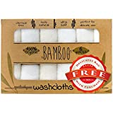 Bamboo Baby Washcloths - Organic Hand Towel Set - Bath Clothes for Kids & Adults