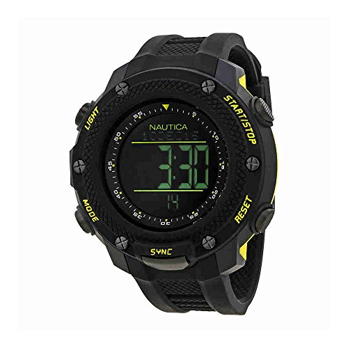 Nautica NMX 15 Black Dial Mens Digital Watch NAI19523G