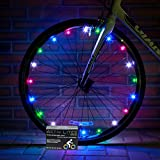 Super Cool Rainbow LED Bike Wheel Lights - Best Birthday Gift & Christmas Present for Boys & Girls of All Ages - Extra Safe & Fun - Fast Easy Install - Batteries Included - 100%