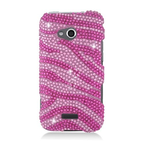 - LF Pink Zebra Designer Rhinestone Case Protector Cover, Stylus Pen and Screen Wiper Bundle Accessory for Samsung Galaxy Victory 4G Lte Verizon