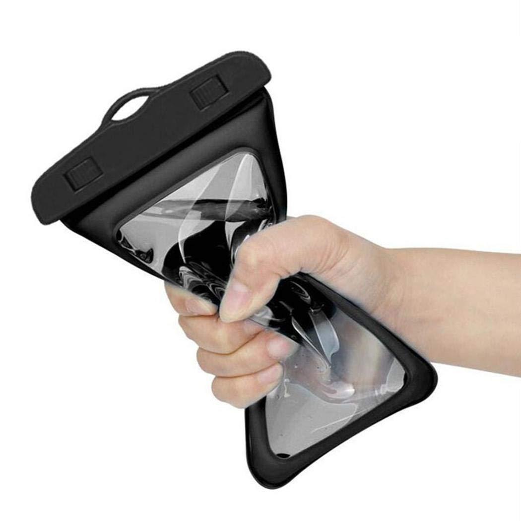 Minlop Praktische Tragbare Wasserdichte Handyhülle Handytasche Wasserdicht Staubdichte Schutzhülle mit Lanyard für Handy bis 6 Zoll