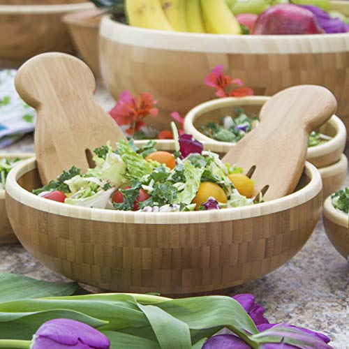 Totally Bamboo Salad Hands, Bamboo Salad Server Set