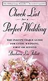 Checklist for a Perfect Wedding, Barbara L. Follett, 0385468156