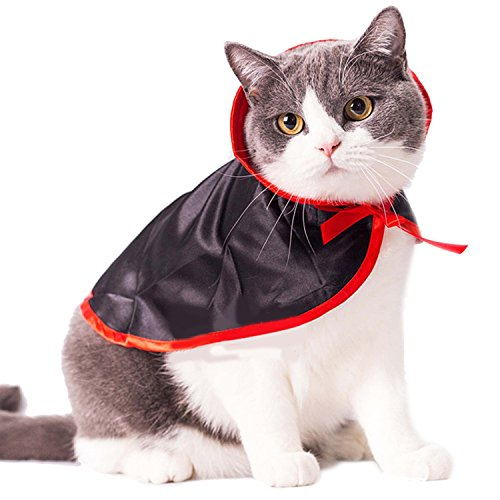 Legendog Cat Costume Christmas Pet Costumes Red Velvet Pet Cape Cat Halloween Costume Pet Apparel for Small Dogs and Cats (cat Cape)