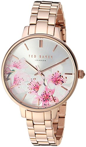 Ted Baker Female ' 'Kate' Quartz Watch with Rose Gold Strap, Stainless Steel, 12 (Model: TE50005004