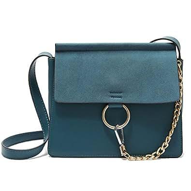 Women Flap Bags ChainsFemale Ring Shoulder Bag Fashion Trend Bag vintage handbags Messenger bags